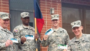College nonprofit thanks troops by sending them to sporting events