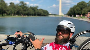 Paralyzed veteran on 1,500-mile handcycling journey to raise awareness on mental health