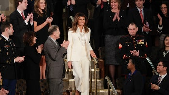 Melania Trump wears 'white' pantsuit to State of the Union? No, she didn't