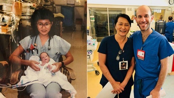 Pediatric resident meets nurse who cared for him as newborn