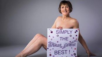 Breast cancer survivor calls herself a 'happy flattie'