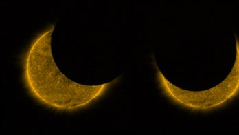 Satellite sees double when snapping solar eclipse pictures from space