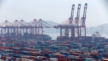 Taiwan port crash sends cargo containers tumbling, workers running for safety: video