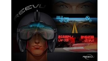 Motorcycle helmet gets built-in heads-up display