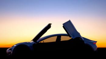 Fisker teases Model S-rivaling sedan with butterfly doors