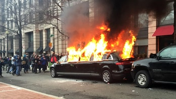 Owner of limo torched in DC during Inauguration Day protest says insurance unlikely to pay