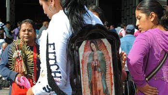River of Virgin of Guadalupe Pilgrims Float Small Businesses Along the Way