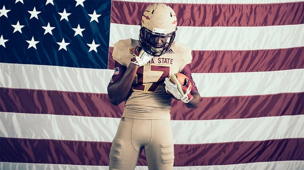 ASU and Adidas tried to recreate emblems from the 1996-1997 Rose Bowl team Tillman was a part of.