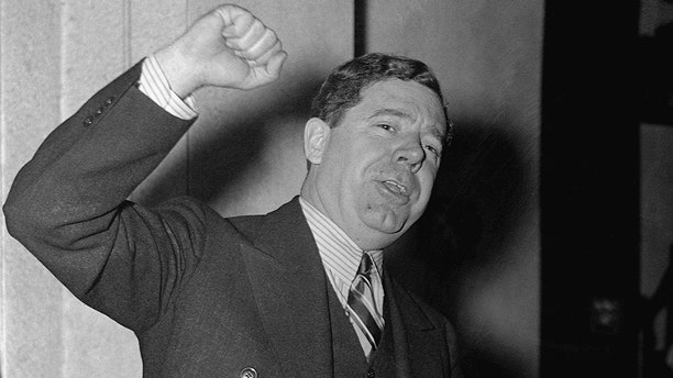Louisiana Senator Huey Long criticizes former head of the National Recover Administration, Hugh S. Johnson, and the New Deal during a nationally broadcasted speech.