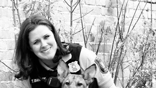 Officer Trish Barnes is also partaking in the animal awareness event.