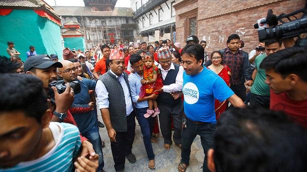 Trishna Shakya, 3, has become Nepal's new Kumari revered by both Hindus and Buddhists in the Himalayan nation.