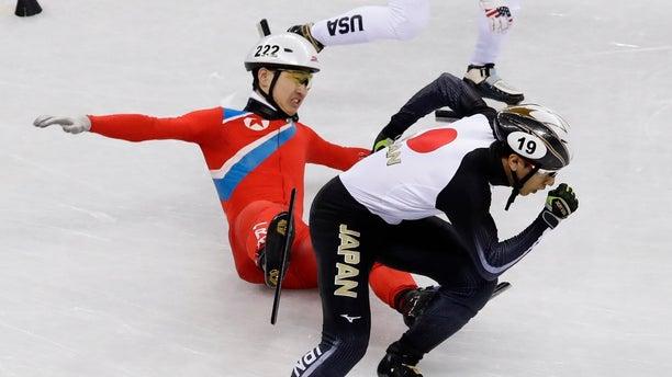 Jong Kwang Bom crashed near his Japanese and U.S. competitors.