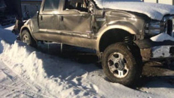 The truck that Meister was in when the accident occurred.