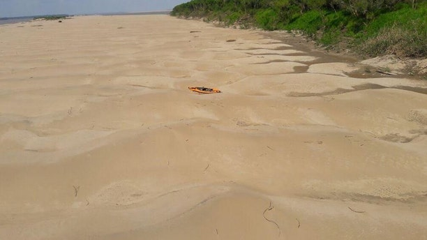 Police said Kelty's belongings and orange kayak were found.