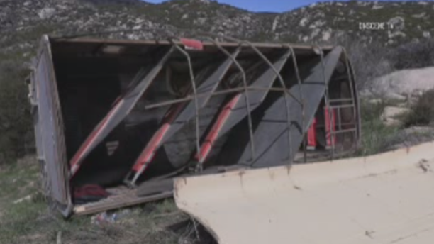 A pickup truck pulling a trailer crashed in Southern California on Saturday, injuring more than a dozen people who may have been in the U.S. illegally, according to reports.
