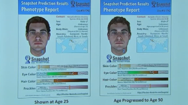 Police were able to use DNA from the crime scene to develop a picture of what a possible suspect could look like.