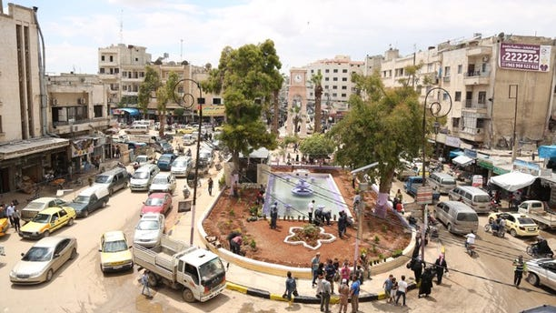 The city of Idlib, the last opposition-held, increasingly Al Qaeda-dominant city in Syria.