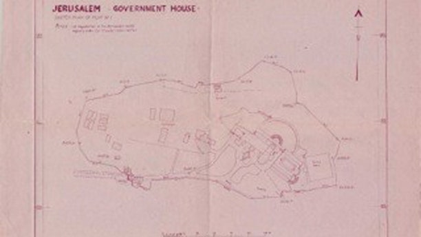 The original Jerusalem Land Registry map dated 14 June 1967 of the area allotted to the U.N.