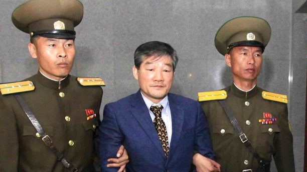 Kim Dong Chul was one of three prisoners released from North Korea Wednesday.