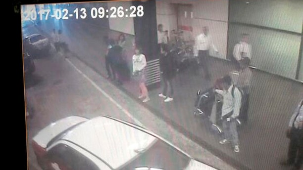 Surveillance video showed two women approaching Kim Jong Nam at Kuala Lumpur International Airport on the day of the assassination.