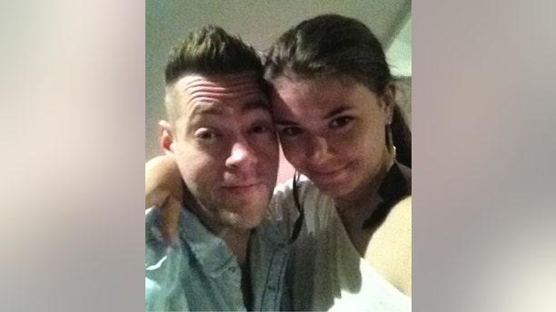 Dellen Millard is seen with Christina Noudga, his girlfriend.