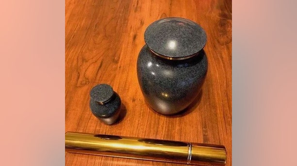 An urn, similar to the one pictured above, was stolen from Elyse Brink's front porch in Tucson, Arizona.