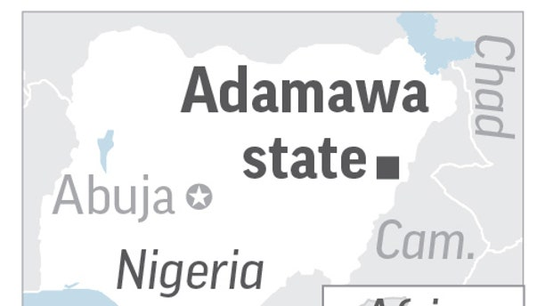 A suicide bombing at a mosque killed at least 20 people in Adamawa state in Nigeria.