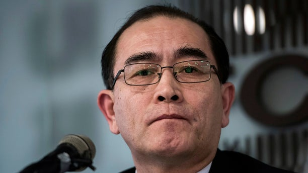 Former North Korean deputy ambassador to the UK, Thae Yong Ho speaks with the media at the Foreign Correspondents Club in Seoul, South Korea, Jan. 25, 2017.
