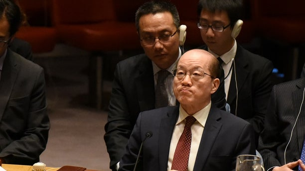 Chinese Ambassador Liu Jieyi listens to remarks during a United Nations Security Council meeting on North Korea at the United Nations on Sept. 11.