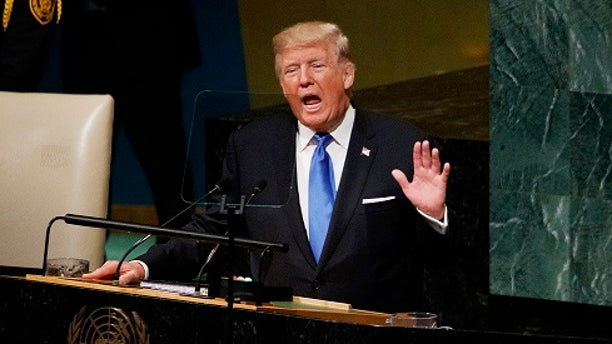 President Trump accused Iran of supporting terrorists during his address Tuesday to the United Nations.