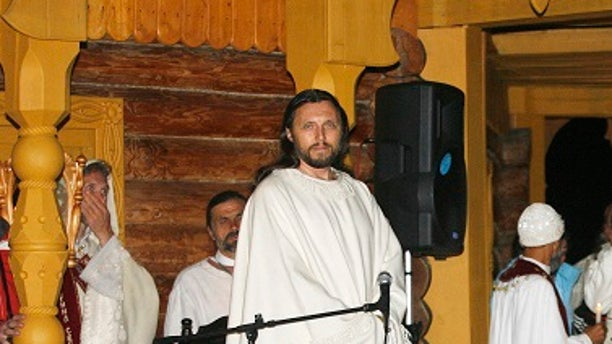 Vissarion, seen here in 2007, was a traffic policeman before finding the Church of the Last Testament in the early 1990's.