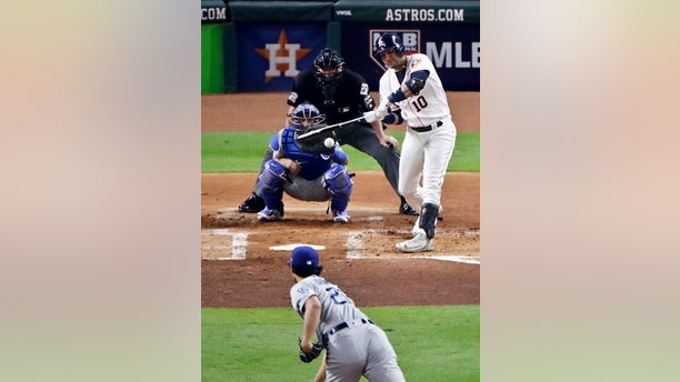 Yuli Gurriel hit a home run off Yu Darvish on Friday, Oct. 27, 2017.