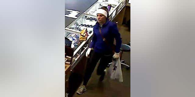 FBI is searching for female suspect in a string of robberies across the south.
