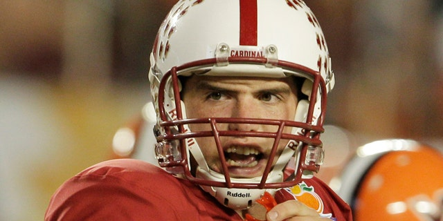 Jan. 3: Stanford quarterback Andrew Luck calls a play during the second half of the Orange Bowl NCAA college football game in Miami.
