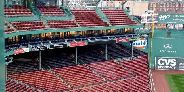 BOSTON, MA - JANUARY 09: A general view of Fenway Park on January 9, 2015 in Boston. Boston has been chosen by the United States Olympic Committee to be the United States entry in the global competition to be the host city for the 2024 Olympics. (Photo by Paul Marotta/Getty Images)