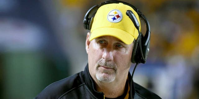 PITTSBURGH, PA - OCTOBER 20: Linebackers coach Keith Butler of the Pittsburgh Steelers looks on from the sideline during a game against the Houston Texans at Heinz Field on October 20, 2014 in Pittsburgh, Pennsylvania. The Steelers defeated the Texans 30-23. (Photo by George Gojkovich/Getty Images) *** Local Caption *** Keith Butler