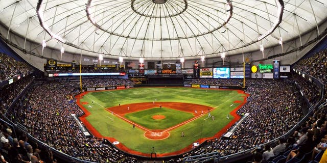 Large crowds at Tropicana Field in St. Petersburg, Fla., have been rarities for the Tampa Bay Rays. (Getty Images)