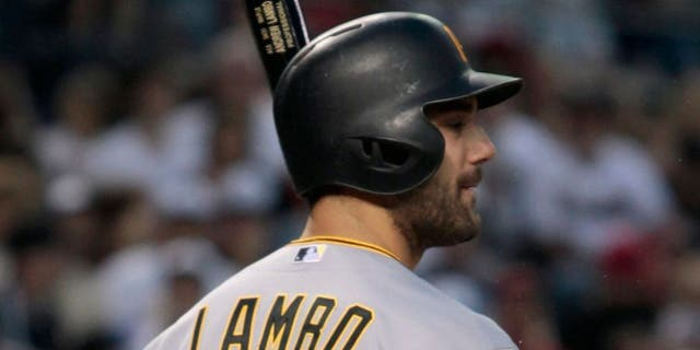 PHOENIX, AZ - APRIL 25: Andrew Lambo #15 of the Pittsburgh Pirates prepares to bat against the Arizona Diamondbacks during the eighth inning of a MLB game at Chase Field on April 25, 2015 in Phoenix, Arizona. (Photo by Ralph Freso/Getty Images)