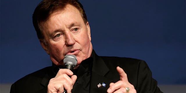 CHARLOTTE, NC - JANUARY 21: Car owner Richard Childress make a point to reporters during the NASCAR 2016 Charlotte Motor Speedway Media Tour on January 21, 2016 in Charlotte, North Carolina. (Photo by Bob Leverone/NASCAR via Getty Images)