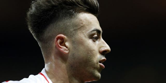 Monaco's Italian forward Stephan El Shaarawy looks on during the French L1 football match between Monaco and Caen on december 2, 2015 at the Louis II Stadium in Monaco. / AFP / VALERY HACHE (Photo credit should read VALERY HACHE/AFP/Getty Images)
