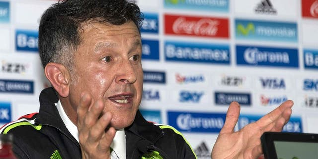 Colombian Juan Carlos Osorio speaks to journalists during a press conference in Mexico City on October 14, 2015. Osorio was announced as the new coach of the Mexican National football team. AFP PHOTO/OMAR TORRES (Photo credit should read OMAR TORRES/AFP/Getty Images)
