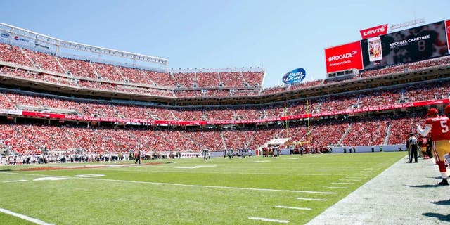SANTA CLARA, CA - AUGUST 17: A full house watches the first football game at Levi Stadium between the San Francisco 49ers and the Denver Broncos on August 17, 2014 in Santa Clara, California. The Broncos defeated the 49ers 34-0. (Photo by Michael Zagaris/San Francisco 49ers/Getty Images)
