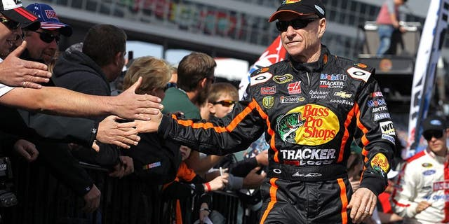FORT WORTH, TX - NOVEMBER 03: Mark Martin, driver of the #14 Bass Pro Shops / Mobil 1 Chevrolet, during the NASCAR Sprint Cup Series AAA Texas 500 at Texas Motor Speedway on November 3, 2013 in Fort Worth, Texas. (Photo by Todd Warshaw/NASCAR via Getty Images) *** Local Caption *** Mark Martin