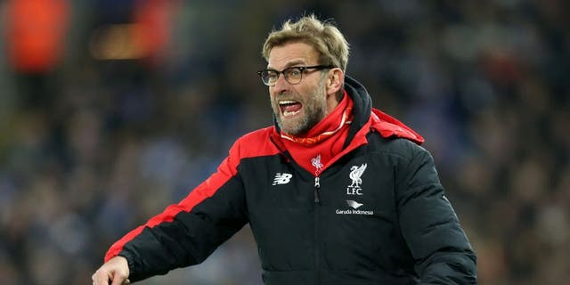 LEICESTER, ENGLAND - FEBRUARY 02 : Manager Jurgen Klopp of Liverpool during the Barclays Premier League match between Leicester City and Liverpool at the King Power Stadium on February 02 , 2016 in Leicester, United Kingdom. (Photo by Plumb Images/Leicester City FC via Getty Images)