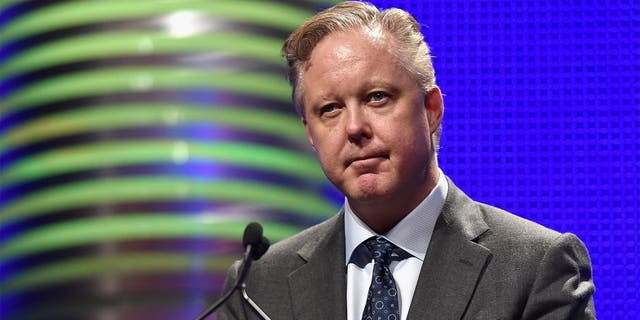 LAS VEGAS, NV - DECEMBER 03: CEO and Chairman of NASCAR Brian France speaks onstage during the 2015 NASCAR NMPA Myers Brothers Awards Luncheon at Encore Las Vegas on December 3, 2015 in Las Vegas, Nevada. (Photo by David Becker/NASCAR via Getty Images)