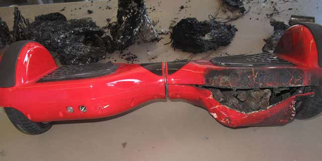 The hoverboard blamed for starting a Tennessee house fire.