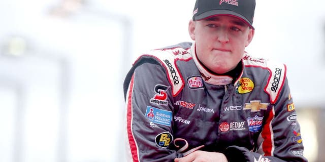 HOMESTEAD, FL - NOVEMBER 21: Ty Dillon, driver of the #3 Yuengling Light Lager Chevrolet, looks on during pre-race ceremonies for the NASCAR XFINITY Series Ford EcoBoost 300 at Homestead-Miami Speedway on November 21, 2015 in Homestead, Florida. (Photo by Sean Gardner/Getty Images)