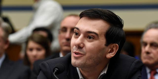 Feb. 4, 2016: Pharmaceutical chief Martin Shkreli speaks on Capitol Hill in Washington during the House Committee on Oversight and Reform Committee hearing on his former company's decision to raise the price of a lifesaving medicine.