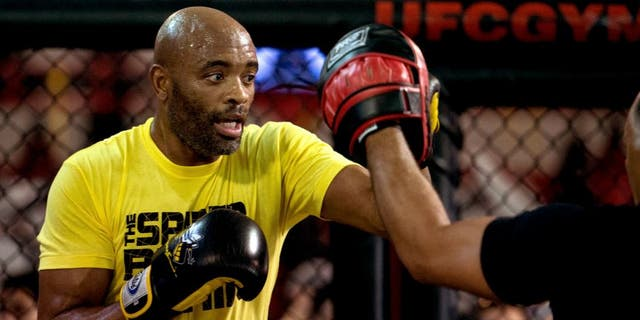 TORRANCE, CA - FEBRUARY 11: Anderson Silva holds an open training session for fans and media at the UFC Gym on February 11, 2016 in Torrance, California. (Photo by Brandon Magnus/Zuffa LLC/Zuffa LLC via Getty Images)