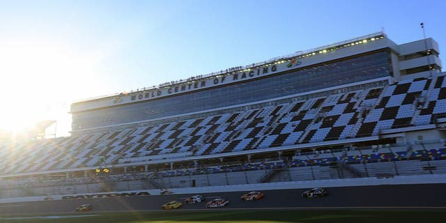 DAYTONA BEACH, FL - FEBRUARY 12: A view of cars during practice for the NASCAR Sprint Cup Series Sprint Unlimited at Daytona International Speedway on February 12, 2016 in Daytona Beach, Florida. (Photo by Jerry Markland/Getty Images)